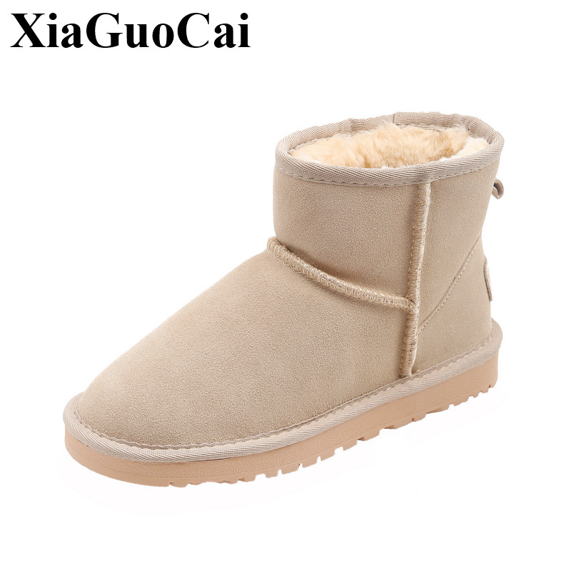 New Arrival Fashion Snow Boots Women Casual Shoes Fleeces Warm Winter Slip-on Wear-resistant Flats Ankle Boots H633 цены онлайн