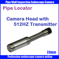 23mm Snake Sewer Drain Pipe Wall Inspection Endoscope Camera with 512hz transmitter pipe locator camera head