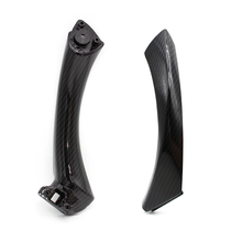 For BMW 3 Series E90 E91 325 330 318 Carbon Fiber Style Interior Door Handles Door