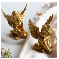 Modern Creative Gifts Beautiful Angel Resin Angel Ornaments Miniature Angel figurine Ornaments Home Decoration accessori Crafts