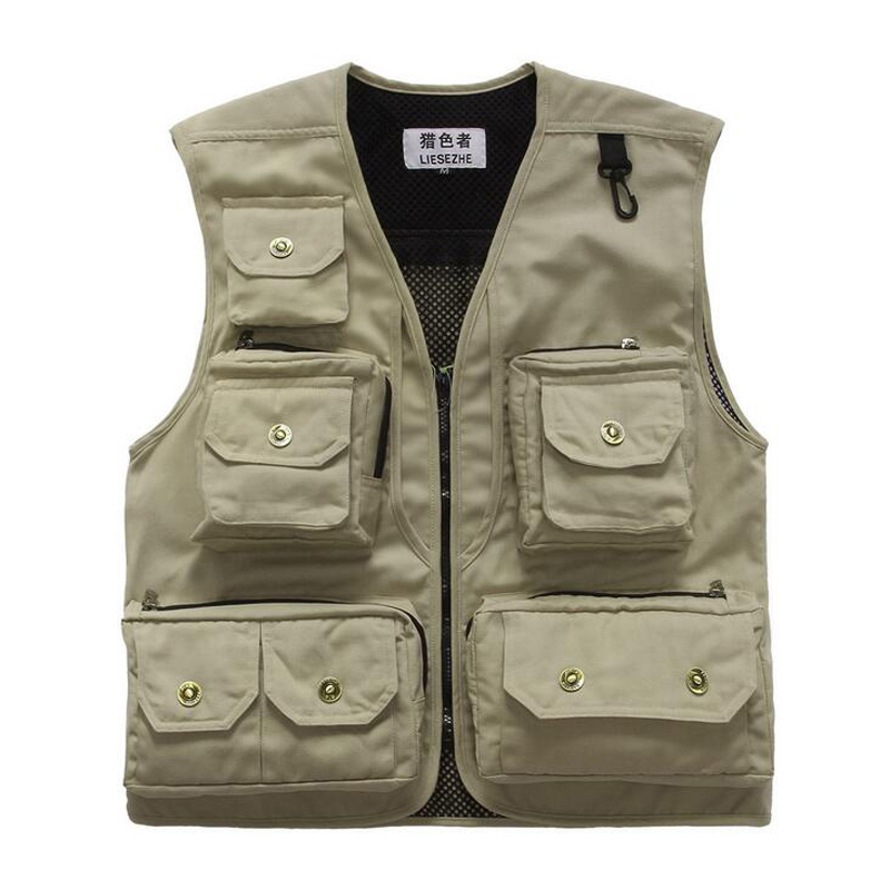 Mens Summer Fly Fishing Vest Sleeveless Multifunctional Quick Drying Fish Jackets Coats Outdoor Camping Photography Vest Colete
