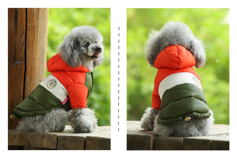 Waterproof and Hooded Dog Jacket with Leash Hole Ideal for Autumn/Winter Season 20