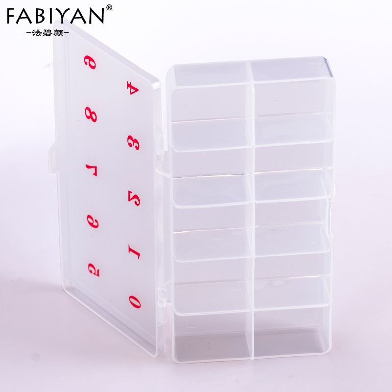 10 Cells Empty Box Storage Container Organizer Case For Rhinestone Decoration Glitter Tips Gems False Nail Art Pro ss16 1440pcs bag hot selling nail art tips gems crystal glitter rhinestone diy decoration nail size 3 8 4 0mm free shipping