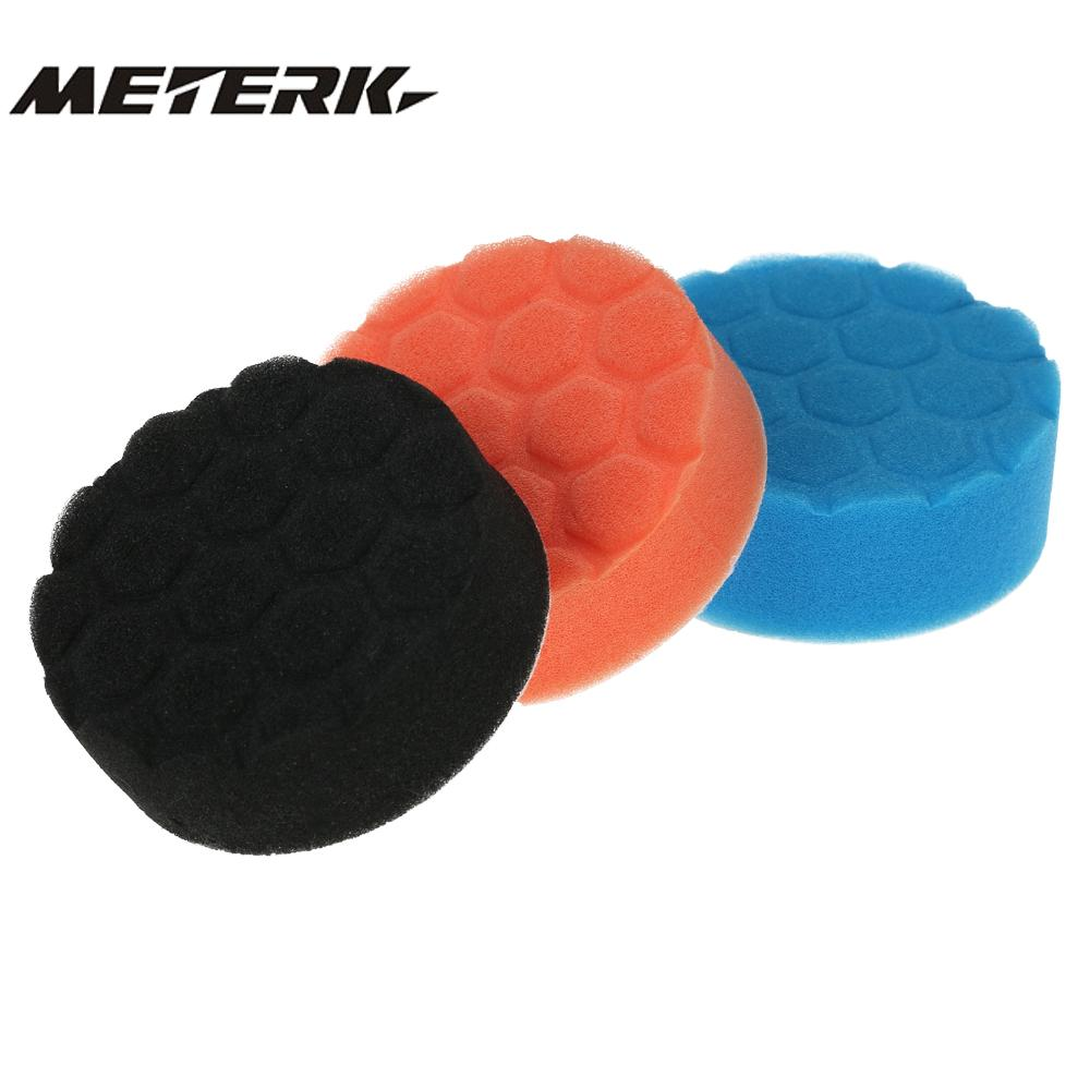 3pcs 3inch 80mm/5in 125mm/6in 150mm/7in 180mm Car Polishing Sponge Pads Waxing Buffing Foam Kit Set Waxer Sander Sealing Glaze Beneficial To The Sperm Back To Search Resultstools