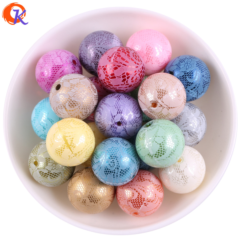 New Arrival 20MM 100Pcs/Lot (Choose Colors ) Lace Printing Colored Pearl Beads For Decoration Jewelry Earring Marketing 100pcs lot ka331 dip 8 new origina