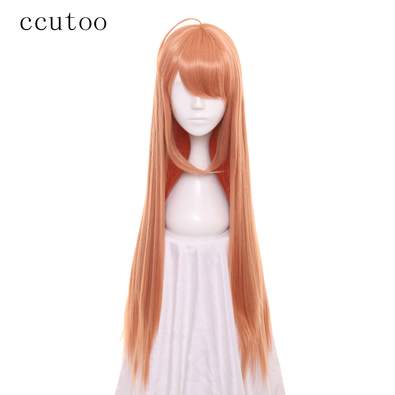 ccutoo 80cm/32inch Long Straight Hairstyles Synthetic Wig Full Bangs Heat Resistance Cosplay Wig For Womens Party Costume Wig