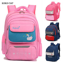 Children School Bags Girls Boys Primary School Backpack Orthopedic Bookbag Multi Compartment Satchel Knapsack Mochila Infantil цена и фото