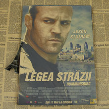Jason Statham Movie Poster Kraft crank death transporter transporter(China)