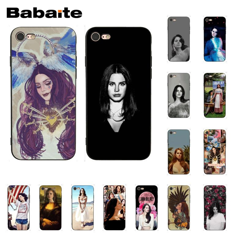 Babaite Sexy singer model Lana Del Rey Mona Lisa <font><b>PhoneCase</b></font> for <font><b>iphone</b></font> 11 Pro 11Pro Max 6S 6plus 7 <font><b>7plus</b></font> 8 8Plus X Xs MAX 5 5S XR image