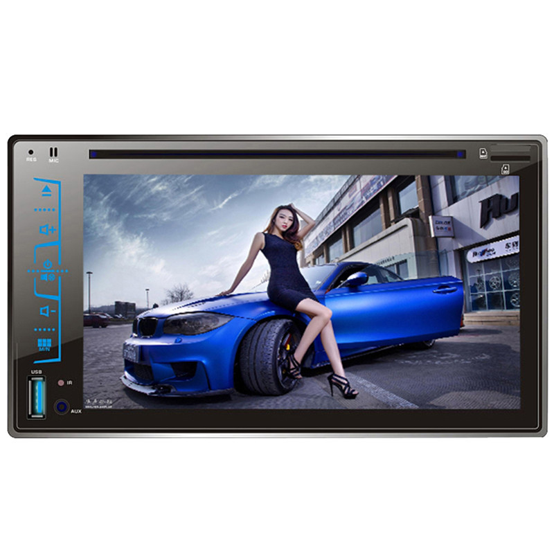 2017 6.2 HD Capacitive Touch Screen Car Bluetooth Stereo DVD Player CD/MP3/FM/AM/USB/SD/AUX-IN 2 Din Receiver MP4 MP5 Player 9 inch car headrest dvd player pillow universal digital screen zipper car monitor usb fm tv game ir remote free two headphones