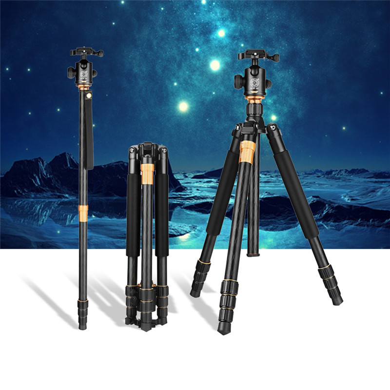 Best QZSD Q999 Portable Tripod to Monopod 360 degree panoramic PTZ For Digital SLR Camera Ball Head Changeable Load Bearing 10kg qzsd q999 portable tripod for slr camera tripod ball head monopod changeable load bearing 18kg