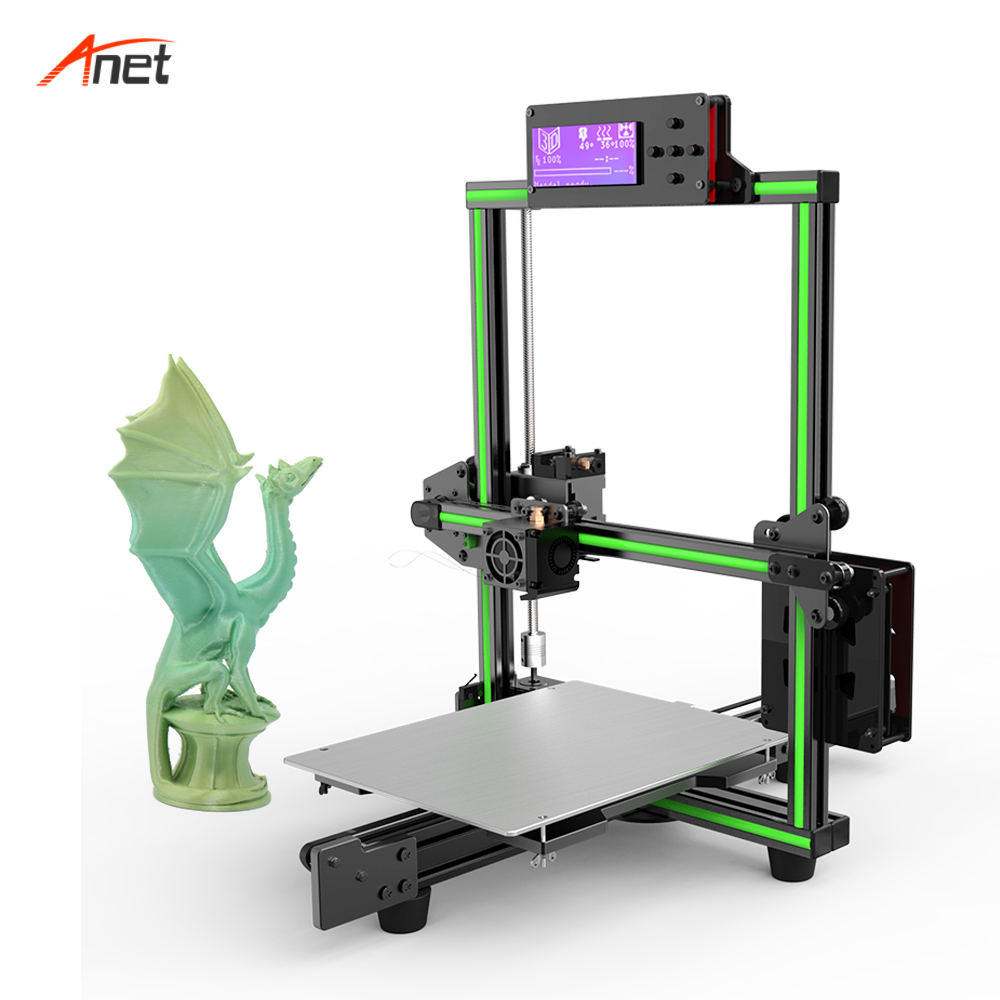 Anet E2 Upgrade Prusa i3 DIY Kit Easy Assembly 3d Printer Kit Large 2004 LCD impresora 3d Supporting 1.75mm PLA/ABS Filament цена
