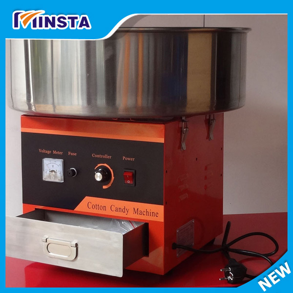 220V 1030W power Electric Commercial Candy Floss Cotton Machine candy floss machine cotton candy machine with cover comix 12 cs 2222