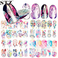 1 piece Nail Sticker Water Transfer Owl Animal Windmill Feather Decal Women Full Tip for Nail Art Fashion BN301-312