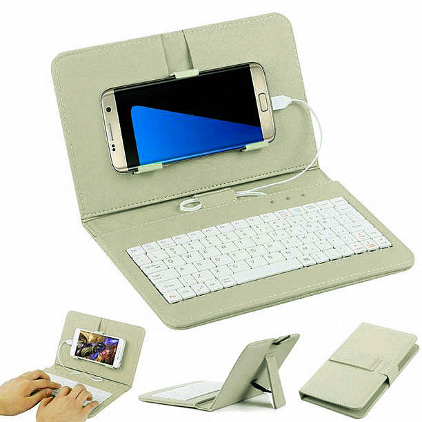 General Wired Keyboard Flip Holster Case For Andriod Mobile Phone 4 2 6 8 20A Drop