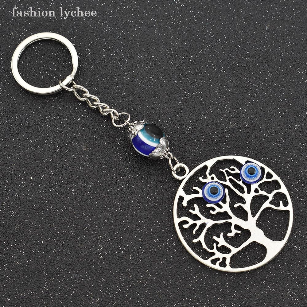 fashion lychee Turkey Lucky Blue Evil Eye Keychain Ring Holder For Women  Car Keyring Purse Handbag Hanging Gift-in Key Chains from Jewelry    Accessories on ... 77f9f87da1