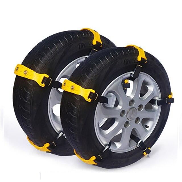 Car Snow Tire Chains Anti skid Chain Beef Tendon TPU Belt Tire Anti ...