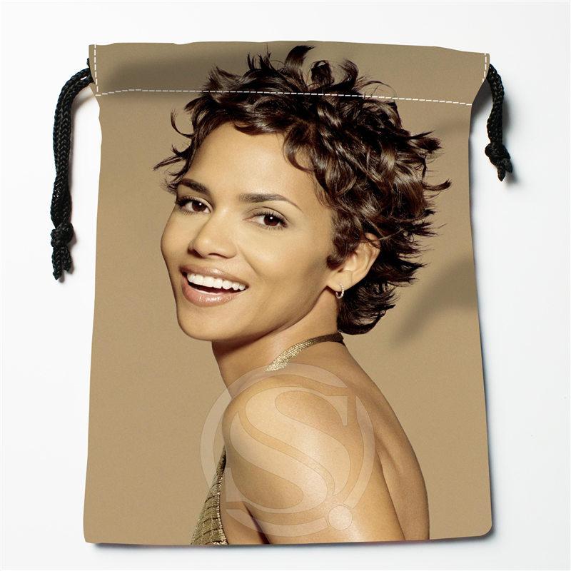 J&w14 New Halle Berry Custom Printed  Receive Bag Compression Type Drawstring Bags Size 18X22cm W725&JYd14