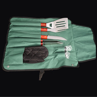 8 In1High Quality Stainless Steel Fork Camping Dining Barbecue BBQ Tool Set Free Shipping
