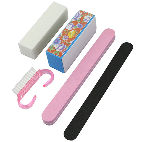 5X Pro Manicure Tools Kit Rectangular Nail Files Brush Accessories Nail Art Set KIJ