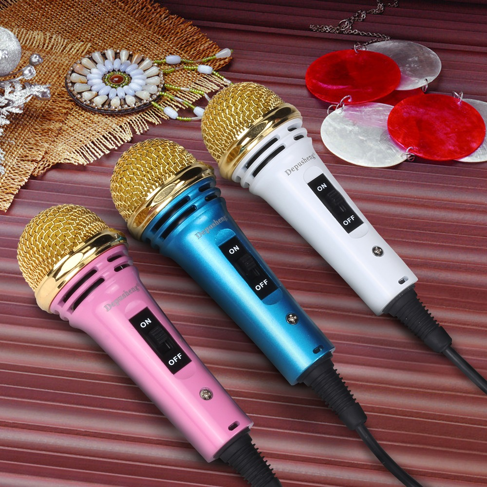 Mini Microphone Smule Karaoke Mic For Android Ios Pc Pinksilver Hf Cheap Handheld Style Desktop Smartphone Laptop Chatting Singing With