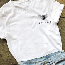 Bee Kind Pocket Print Tshirt Women Save The Bees Graphic Tee