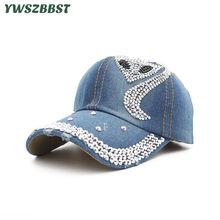 308da3d0c0328 Loisirs Sauvage D'été baseball femmes Caps Diamant Marée chapeau de cowboy  D'été chapeau avec visière Femelle Os casquette snapb.