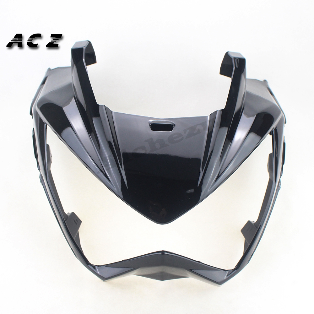 ACZ Motorcycle Replacement ABS Black Front Upper Cowl Nose Fairing Fit For Kawasaki Z250 2013 2017