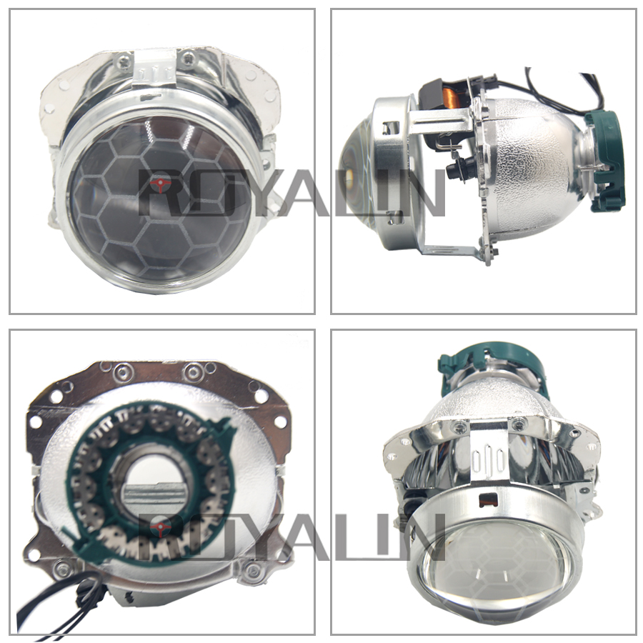 ROYALIN Bi Xenon Projector Headlights Lens D1S D2S EVOX Hella Retrofit for  BMW E39 E60 Audi A6 C5 C6 W211 Passat B6 Skoda Fabia