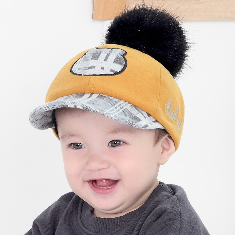 583019bcad6  DINGDNSHOW  2019 Brand Baseball Cap Kids Warm Winter Cap Cotton Hip Hop  Cap Baby Cartoon Cap Snapbacks Hat for Boys and Girls-in Baseball Caps from  Apparel ...