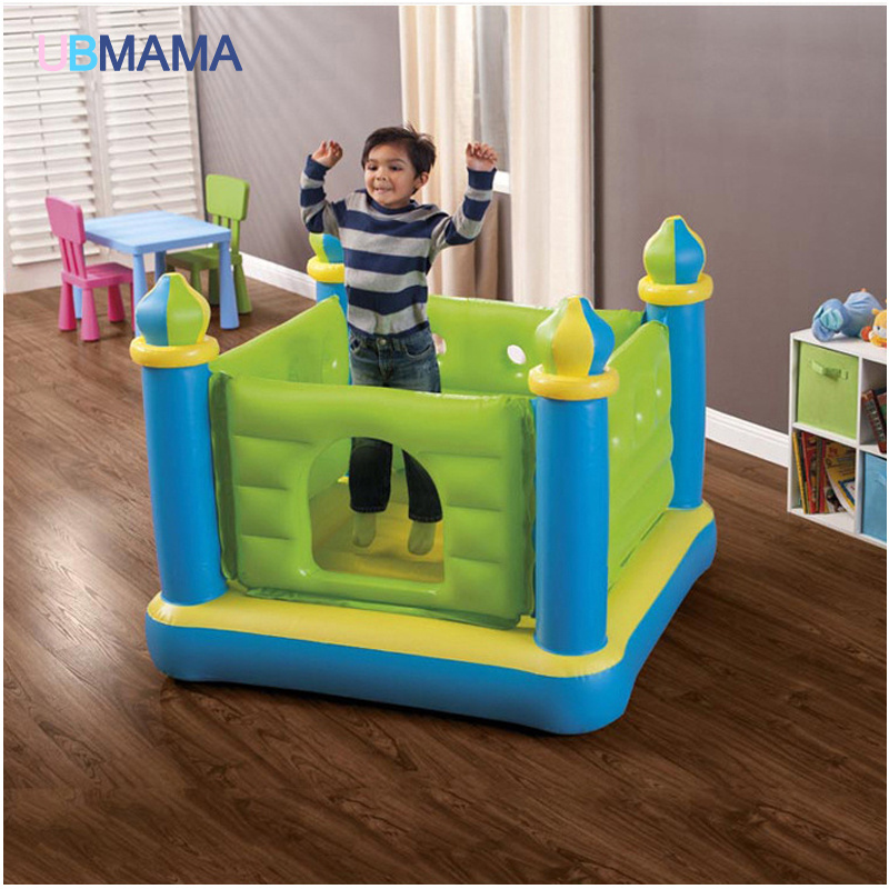 Children Inflatable Toys Trampoline Household Type Trampoline Indoor Trampoline Play Groud Pool 132*132*107cm