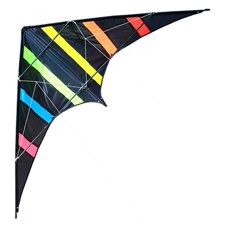 Outdoor Fun Sports NEW 48/72 Inches Dual Line Stunt Kites /Aurora Kite With Handle And Line Good Flying 16 colors x vented outdoor playing quad line stunt kite 4 lines beach flying sport kite with 25m line 2pcs handles