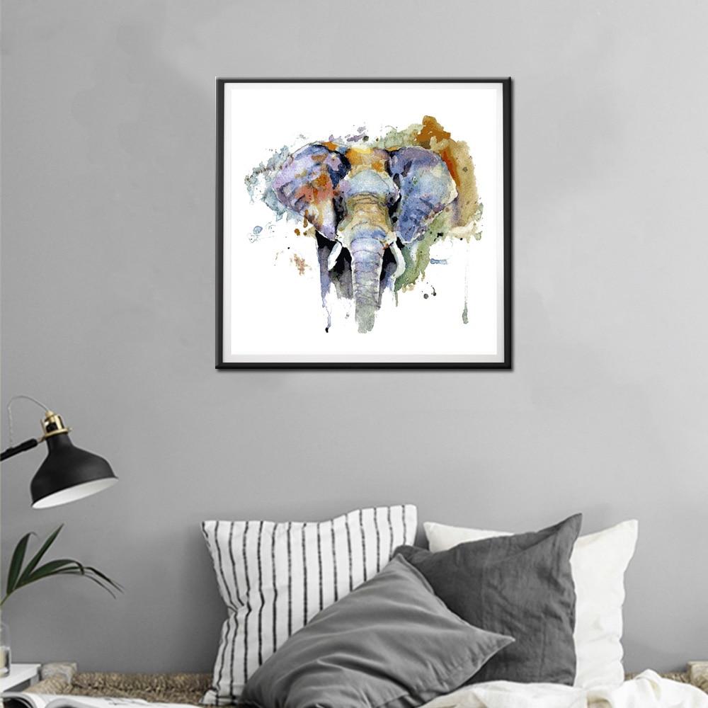 Noah Kunst Wildlife Tier Wandkunst Elefanten Ölgemälde auf Leinwand ...