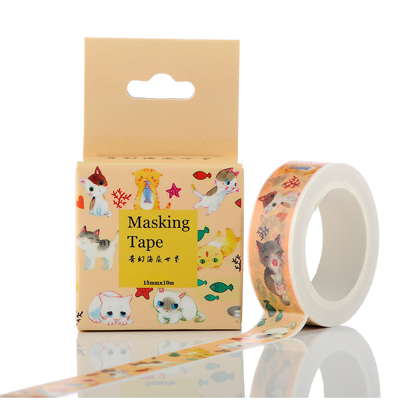 1.5cm Wide My Neighbor Cat Washi Tape Adhesive Tape DIY Scrapbooking Sticker Label Masking Tape my fairies sticker storybook