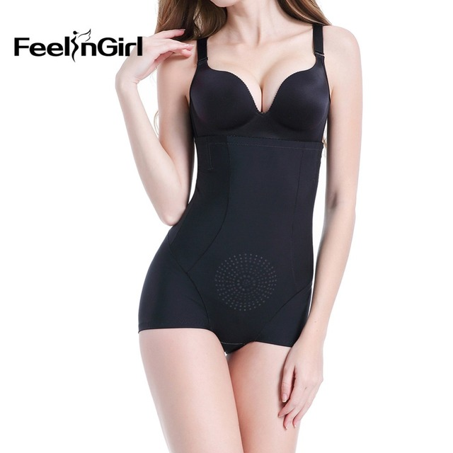 912fc869dc FeelinGirl High Waist Butt Lifter Tummy Control Waist Shaperwear Slimming  Plus Size Invisible Volcanic Stones Lifting Panty -E