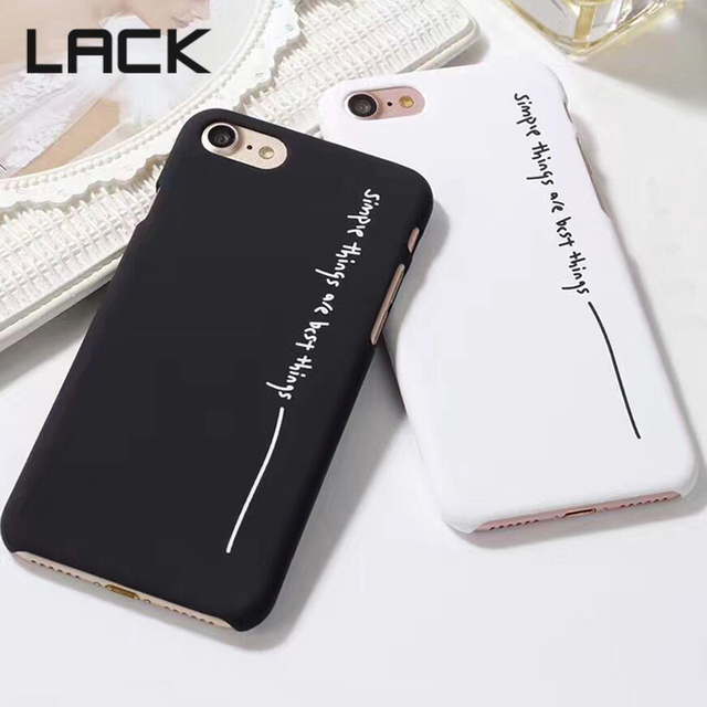 low priced 4b173 397f2 US $1.64 13% OFF|LACK Fashion Simple Things Are The Best Things Phrase Back  Cover Hard PC Phone Cases For iPhone 7 Plus For iPhone 7 7Plus-in ...
