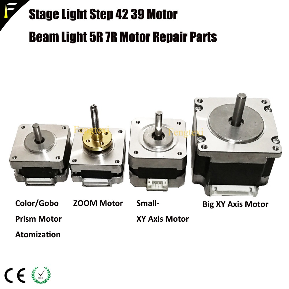 Moving Head Sharpy Beam Light 5R 7R Parts Step Motor Zoom/Focus/Strobe Motor Gobo Color Wheel Prism Frost Motor R7/R5Moving Head Sharpy Beam Light 5R 7R Parts Step Motor Zoom/Focus/Strobe Motor Gobo Color Wheel Prism Frost Motor R7/R5