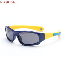 NIKSIHDA 2019 New silica gel sunglasses for boys and girls polarizing Sports Sunglasses baby Sunglasses UV400 niksihda 2019 european and american pop polarized sunglasses fashion sunglasses anti ultraviolet sunglasses uv400
