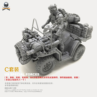 1/35 Resin Kits US Navy SEALs and Terrain Vehicles (C Set) Resin Model Self assembled DXC 05