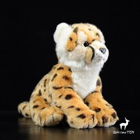 Leopard Plush Doll Toy Real Life Stuffed Cheetah Toys for Boy Holiday Gifts