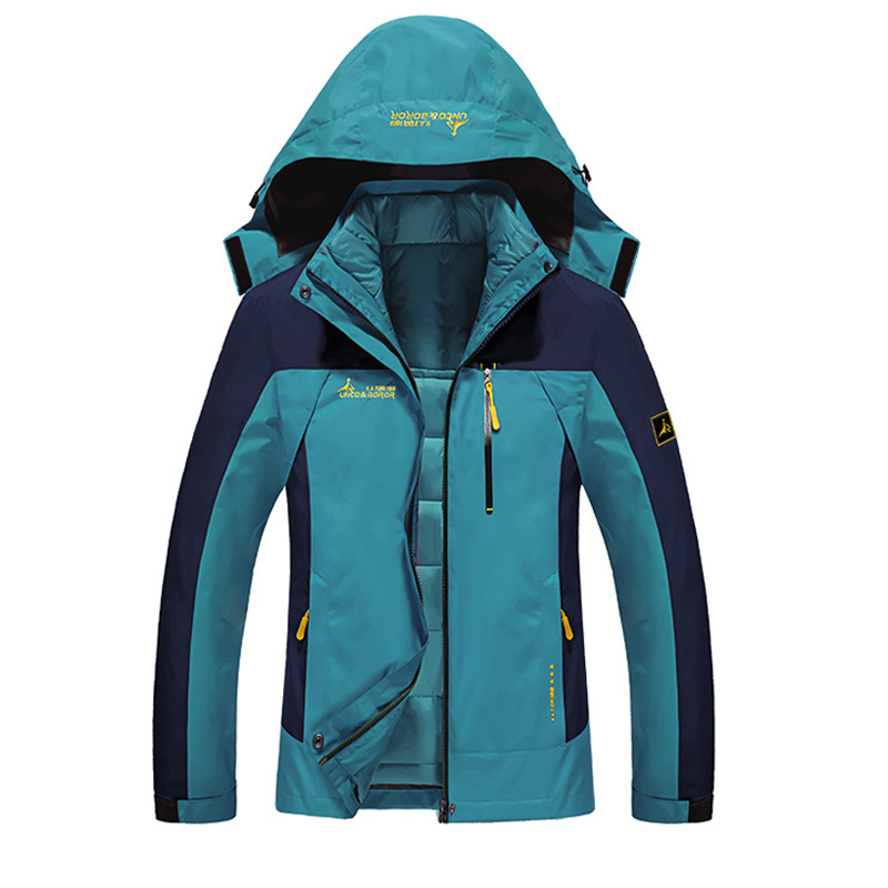 Women Winter 2 Pieces Inside Cotton padded Jackets Outdoor Sport Waterproof Thermal Coats Hiking Ski Camping