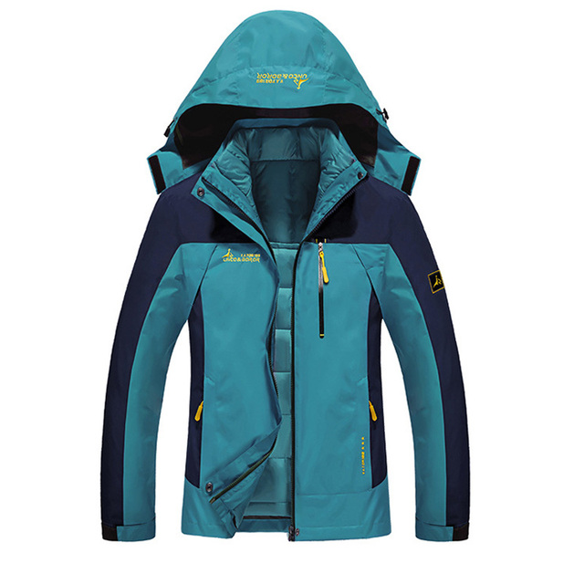 Women Winter 2 Pieces Inside Cotton-padded Jackets Outdoor Sport Waterproof Thermal Coats Hiking Ski Camping Female Jacket VB019