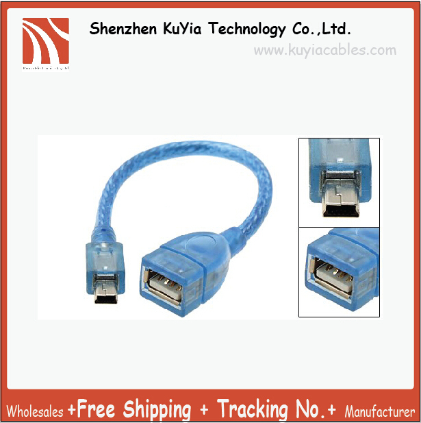 Free Shipping+tracking number ! Approx.30cm USB A Female to Mini USB B 5 Pin Male adapter Converter 50pcs/lot
