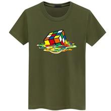Rubik Cube Print T Shirts Men Women Fashion Design Summer O neck Plus size 5XL Short