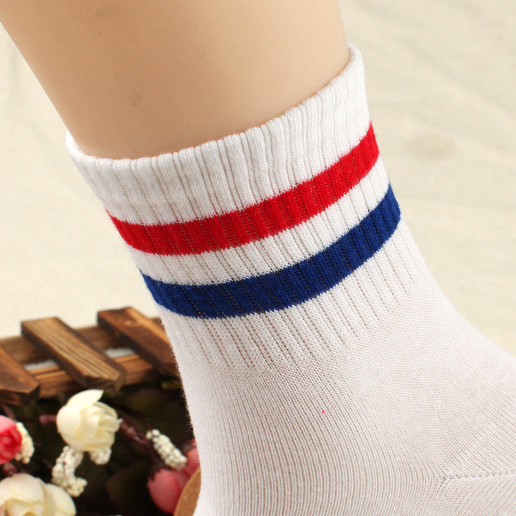 77a34911443 Aliexpress.com   Buy New Design Two Striped Socks Lovers Women Men Cotton  Blue Black White Mint Green Meias Calcetines Mujer from Reliable calcetines  mujer ...
