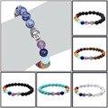 Men matte onyx beads Buddha religious bracelet Reiki Prayer 7 chakra Stones Healing Balance tiger eye Beads Bracelet