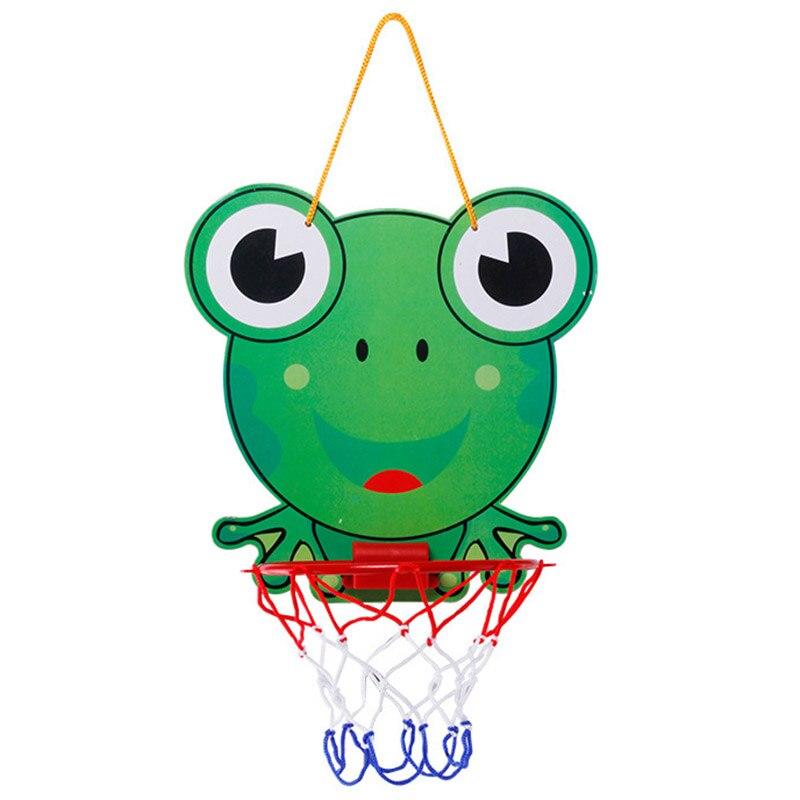 Top Vente Belle Bande Dessinée Portable En Plastique panier de Basket Enfants Sports D'intérieur Suspendus panier de Basket avec Boule Enfants Jouets Ensemble