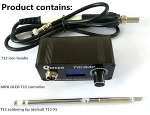 Image 4 - MINI T12 OLED soldering station electronic welding iron 2018 New design DC Version Portable T12  Digital  Iron T12 942 QUICKO
