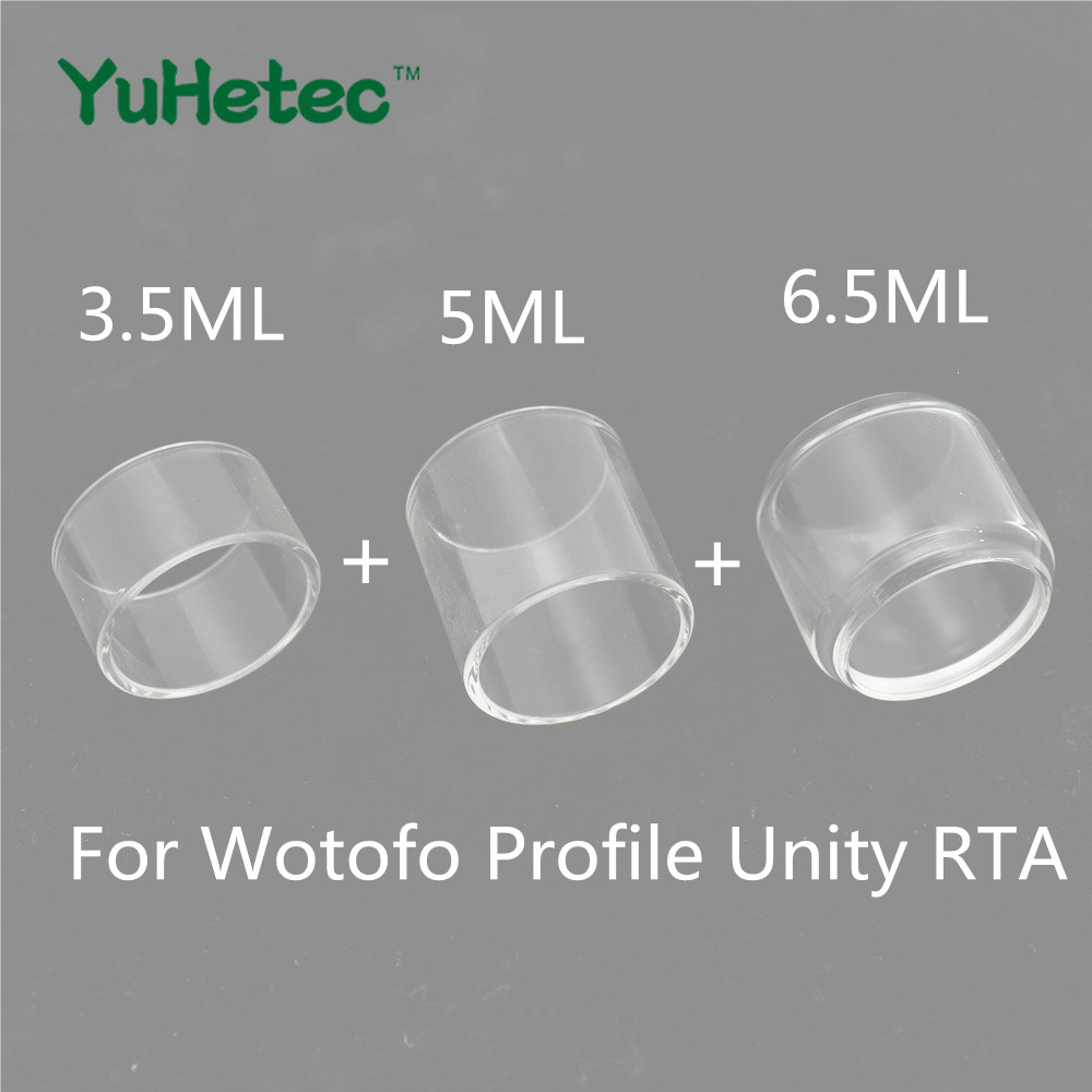 3PCS YUHETEC Glass Tank for Wotofo Profile Unity RTA 3.5ml & 5ml & 6.5ml