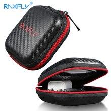 RAXFLY Earphone Case Hard Headphone Wireless Bluetooth Bag For Apple Earpods Ear Pads Accessories